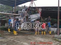 201叠螺脱水机在江西某养猪场应用